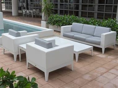 Source Outdoor Furniture South Beach Aluminum Cushion Lounge Set SCSOUTHBLNGSET3