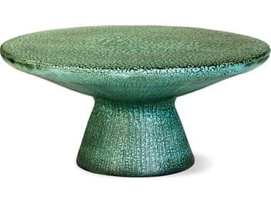 Seasonal Living Kavis Frost Ceramic 40'' Wide Round Coffee Table SEA308FT341P2FR