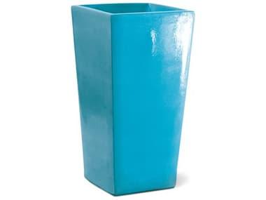 Seasonal Living English Turquoise Blue Ceramic Planter SEA308GU367P2TB