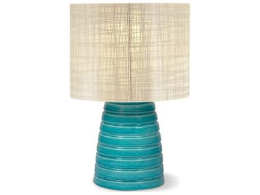 Seasonal Living Inda Ribbon Cordless Outdoor Ceramic Taupe LED Table Lamp SEA308LT002P2TB
