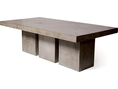 Seasonal Living Perpetual Slate Gray Concrete Tuscan 97''W x 49''D Rectangular Dining Table SEA501FT015P2G