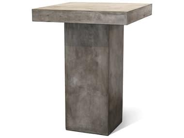 Seasonal Living Perpetual Slate Gray Concrete Provence 32''Wde Square Bar Table SEA501FT023P2G