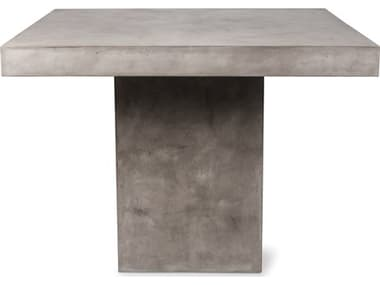 Seasonal Living Perpetual Slate Gray Concrete Phil 48''W x 36''D Rectangular Counter Table SEA501FT046P2G