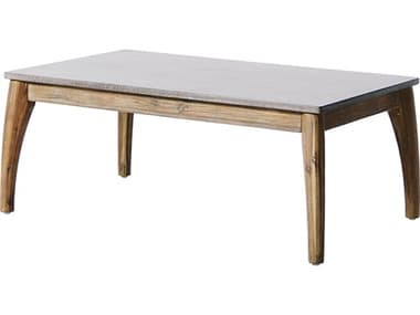 Seasonal Living Explorer Mixed Gray Acacia Wood Wings 39.5''W x 23.5''D Rectangular Coffee Table SEA504FT003P2G