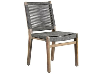 Seasonal Living Explorer Mixed Gray Acacia Wood Oceans Dining Side Chair (Price Includes 2) SEA504FT031P2G