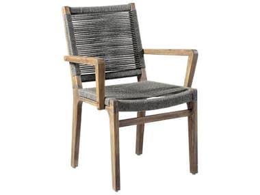 Seasonal Living Explorer Mixed Gray Acacia Wood Oceans Dining Armchair (Price Includes 2) SEA504FT032P2G
