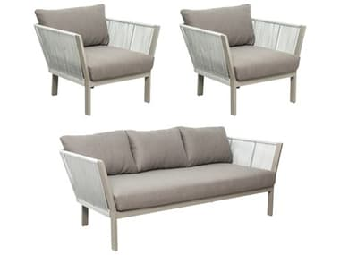 Seasonal Living Archipelago Light Gray Aluminum St. Helena Furniture Group Set (Price Includes 3) SEA620FT014P2LGDG