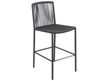 Seasonal Living Archipelago Dark Gray Aluminum Stockholm Bar Side Chair Set (Price Includes 2) SEA620FT043P2DGP