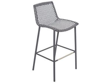 Seasonal Living Archipelago Dark Pebble and Dove Aluminum San Blas Bar Chair Set (Price Includes 2) SEA620FT051P2DGPD