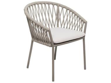 Seasonal Living Archipelago Brown Beach Aluminum Maldive Dining Chair Set (Price Includes 2) SEA620FT055P2BBT