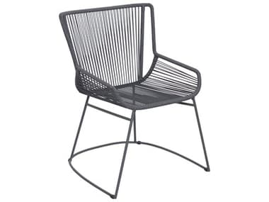 Seasonal Living Archipelago Dark Gray Aluminum Dane Dining Armchair Set (Price Includes 2) SEA620FT060P2DGP