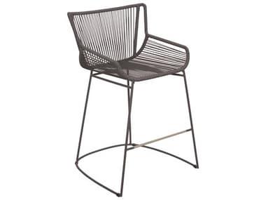 Seasonal Living Archipelago Dark Gray Aluminum Dane Counter Chair Set in Dark Pebble Weave (Price Includes 2) SEA620FT061P2DGP