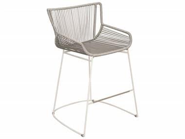 Seasonal Living Archipelago Dark Gray Aluminum Dane Counter Chair Set in Dove Gray Weave (Price Includes 2) SEA620FT061P2LGD