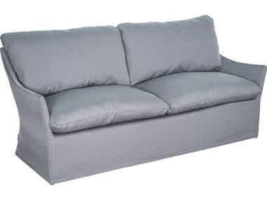 Seasonal Living Capri Aluminum Brown Beach Sofa with Slate Grey Slipcover SEA620FT094FCG