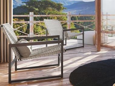 Seasonal Living Archipelago Javanese Nut Brown Aluminum Torres Strait Lounge Set SEAARCPLGOTRLNGSET