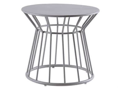 Sifas Basket Mat Grey 23'' Wide Aluminum Round End Table SFABASK27