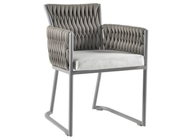 Sifas Basket Mat Grey Aluminum Cushion Dining Chair SFABASK4
