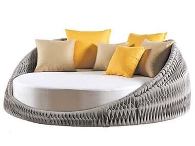 Sifas Kalife Mat Grey Aluminum Cushion Loveseat SFAKALI30