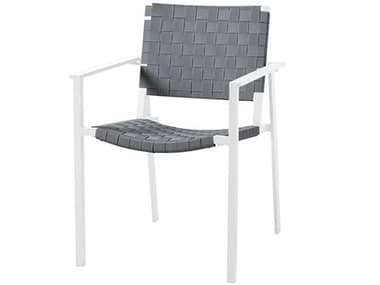 Sifas Pheniks Strap Taupe / Mat Moka Aluminum Dining Chair SFAPHEN4S