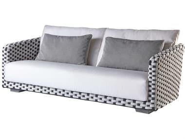 Sifas Riviera Black / White Fabric Strap Sofa SFARIRA21