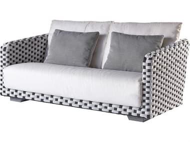 Sifas Riviera Black / White Fabric Cushion Sofa SFARIRA22
