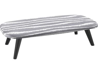 Sifas Riviera Grey / White 59'' Wide Aluminum Rectangular Coffee Table SFARIRA26