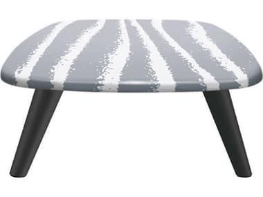 Sifas Riviera Grey / White 43'' Wide Aluminum Square Coffee Table SFARIRA28