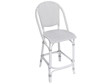 Sika Design Alu Affaire Aluminum White Sofie Stackable Counter Stool in White/Cappuccino Dots SIK7167CPWH1