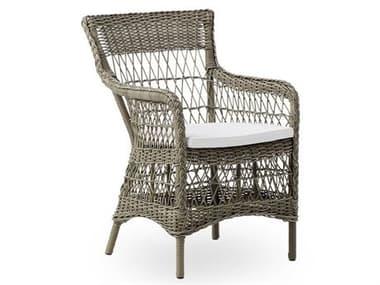Sika Design Georgia Garden Wicker Antique Cushion Marie Dining Arm Chair SIK9196T