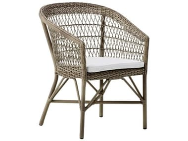 Sika Design Georgia Garden Wicker Antique Cushion Emma Stackable Dining  Arm Chair SIK9197T