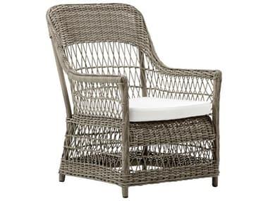 Sika Design Georgia Garden Wicker Antique Cushion Dawn Lounge Chair SIK9198T