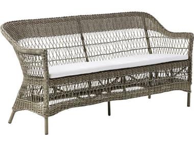 Sika Design Georgia Garden Wicker Antique Cushion Charlot Sofa SIK9293T