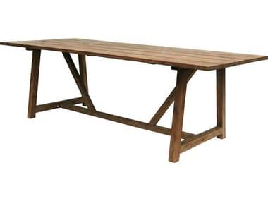 Sika Design Teak Natural Brown George 94''W x 39''D Rectangular Dining Table SIK9440U