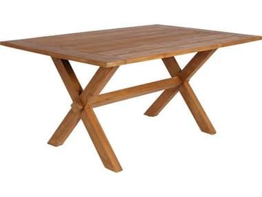 Sika Design Teak Natural Brown Colonial 63''W x 39''D Rectangular Dining Table SIK9460U