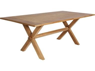 Sika Design Teak Natural Brown Colonial  Long 78''W x 39''D Rectangular Dining Table SIK9475U