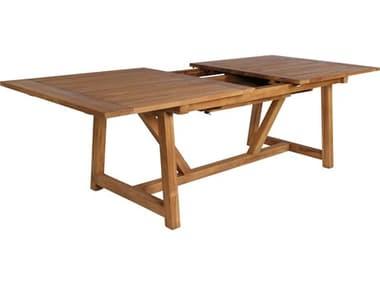 Sika Design Teak Natural Brown George Extension 78-110''W x 39''D Rectangular Dining Table SIK9480U
