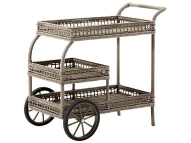 Sika Design Georgia Garden Wicker Antique James Trolley Serving Cart SIK9690T