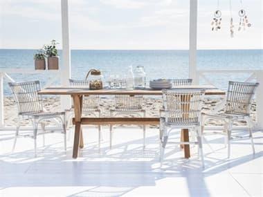 Sika Design Exterior Aluminum Dove White Elisabeth Dining Set SIKEXTRIORDINSET6
