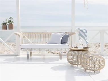Sika Design Exterior Aluminum Dove White Cushion Belladonna Lounge Set SIKEXTRIORLNGSET1