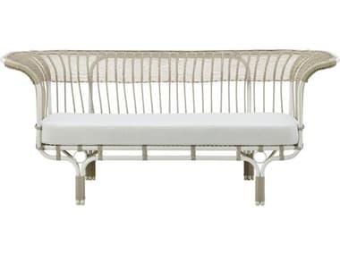 Sika Design Exterior Aluminum Dove White Cushion Belladonna Sofa SIKFAE90DO