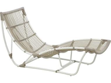 Sika Design Exterior Aluminum Dove White Michelangelo Chaise Lounge SIKSDE125DO