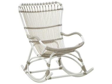 Sika Design Exterior Aluminum Dove White Monet Rocking Chair SIKSDE181DO