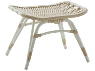 Sika Design Exterior Aluminum Dove White Monet Footstool SIKSDE184DO