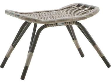 Sika Design Exterior Aluminum Moccachino Monet Footstool SIKSDE184MC