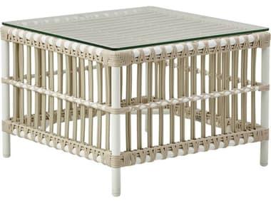 Sika Design Exterior Aluminum Dove White Caroline 23'' Wide Square End Table SIKSDE426DO