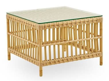 Sika Design Exterior Aluminum Natural Caroline 23''Wide Square End Table SIKSDE426NU
