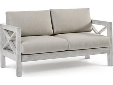 South Sea Rattan Farlowe Aluminum Brushed White Loveseat SR72302