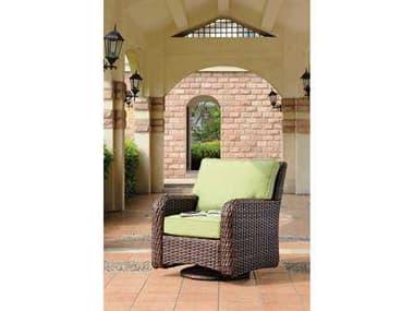 South Sea Rattan St Tropez Wicker Swivel Glider Lounge Chair SR79305