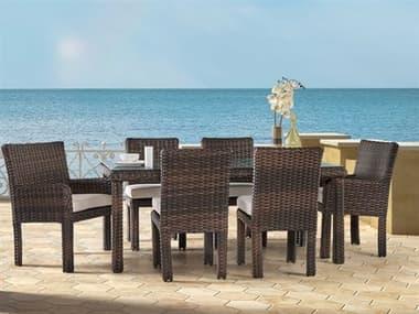 South Sea Rattan St Tropez Wicker Dining Set SRSNTTRPZDINSET
