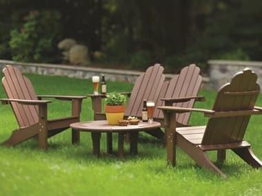 Seaside Casual Classic Adirondack Recycled Plastic Lounge Set SSC010SET1